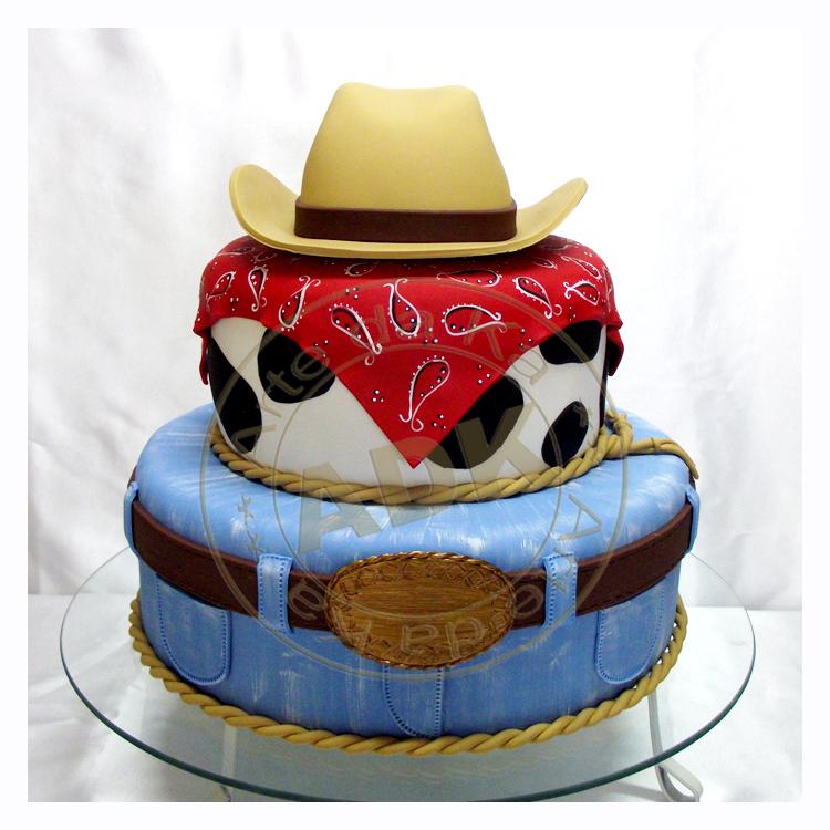 Feliz Aniversário wandheyr!!! Bolo-cowboy