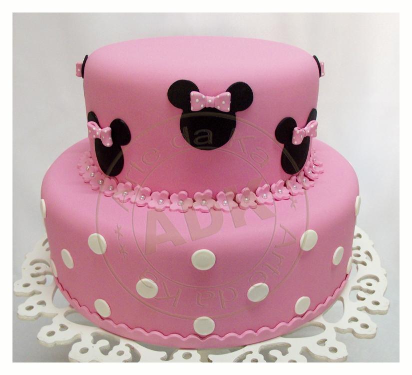 """Bolo Minnie rosa escuro"""""""